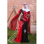 Mittelalter Kleid viergeteilt