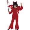 Disfraz de demonio rojo para niña
