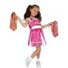 Disfraz de animadora rosa para niña
