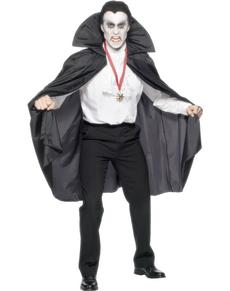 Capa de vampiro negra deluxe