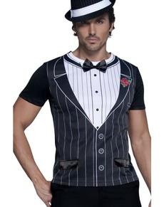 Camiseta de gángster para hombre