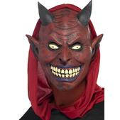 Masque couvre-tête de diable souriant