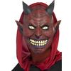 Máscara cubrecabeza de diablo sonriente