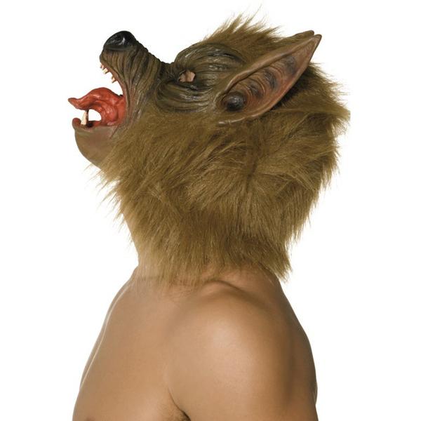 Máscara de lobo marrón: comprar online en Funidelia.