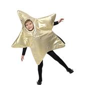 Disfraz de gran estrella de navidad infantil