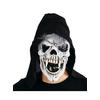 Masque crâne menaçant avec capuche