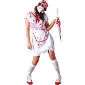 Disfraz de enfermera sangrienta zombie