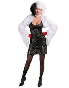 Disfraz de villana De Vil para mujer