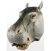 Máscara de hipopótamo deluxe