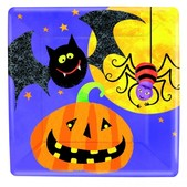 Ensemble de plats carrées pour le soir d'Halloween