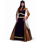 Disfraz de medieval cruzadas Leonor deluxe