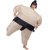 Disfraz de luchador de sumo hinchable