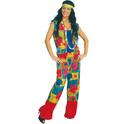 Disfraz de Hippie de colores para mujer