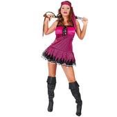 Disfraz de pirata rosa sexy