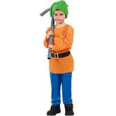 Disfraz de enanito del bosque para niño