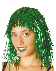 Peluca verde brillante