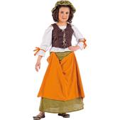 Disfraz de tabernera medieval Agnes niña