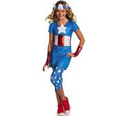 Disfraz de Capitán América Dream para niña