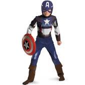 Disfraz de Capitán América Soldado de Invierno retro para niño