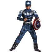Disfraz de Capitán América Soldado de Invierno musculoso para niño
