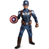 Disfraz de Capitán América Soldado de Invierno prestige para niño