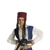 Bandana y peluca Jack Sparrow para niño