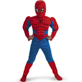 Disfraz de Spiderman classic musculoso para niño