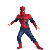 costume Ultimate Spiderman musclé pour enfant