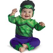 Disfraz de mini Hulk para bebé
