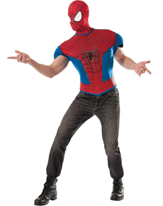 Kit disfraz The Amazing Spiderman 2 musculoso para hombre