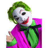 Máscara de Joker Batman Classic 1966 de látex con pelo para adulto