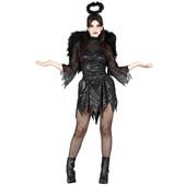 Disfraz de Ángel Caído negro para Mujer