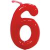 Vela de Cumpleaños Clásica Número 6