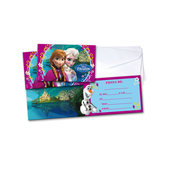 Set of Frozen invitations