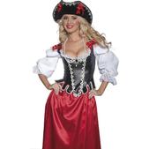 Auténtico sombrero de moza pirata - Pack de 3