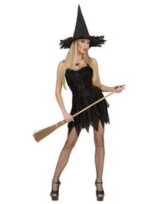 Disfraz de bruja clásica sexy para mujer