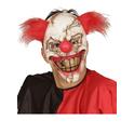 Máscara de payaso zombie con pelo