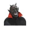 Máscara de demonio sonrisa inquietante negra