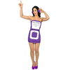 Disfraz de reproductor Mp3 morado para mujer