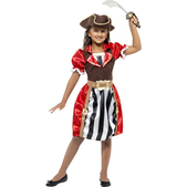 Costume pirate rouge pour fille