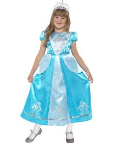 Disfraz de Princesa Cenicienta azul para niña