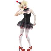 Disfraz de payasita zombie para mujer