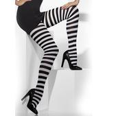 Pantys de rayas negras y blancas