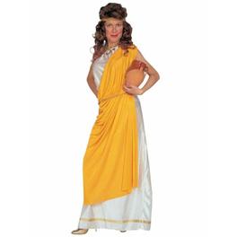 Disfraz de romana con toga para mujer