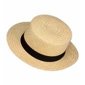 Sombrero de paja con cinta negra