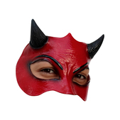 Media máscara de Demonio de látex