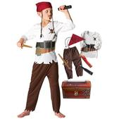 Disfraz de Piratas del Caribe para niño en cofre
