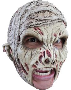 Máscara de momia de látex con dientes