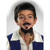 Barba y bigote de Jack Sparrow Piratas del Caribe