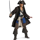 Disfraz de Jack Sparrow Piratas del Caribe prestige para adulto